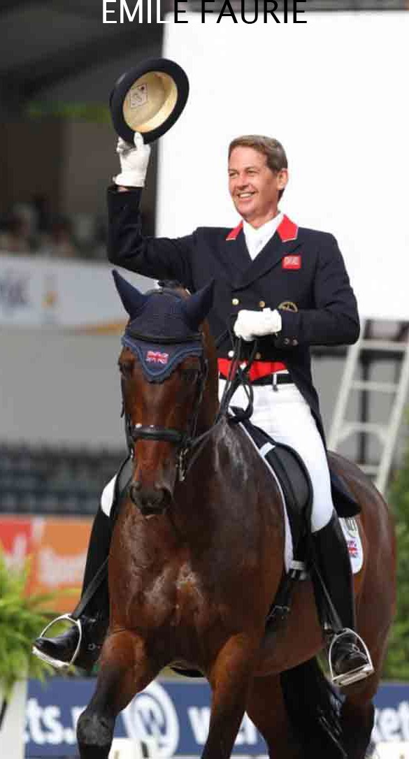Fin Jopson worked as rider for British Olympic dressage rider Emile Faurie